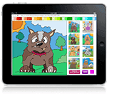 dog iPad colouring game